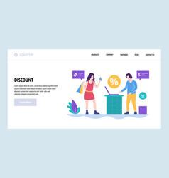 Web site design template shopping sale vector