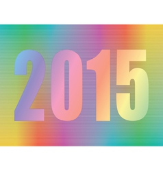 year 2015 hologram vector image