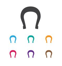Zoology symbol on horseshoe vector