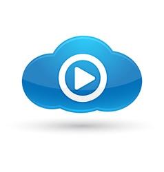 Cloud Computing Media Icon vector image vector image