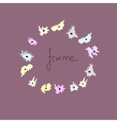 Colored frame for a photo of the hand-drawn vector image