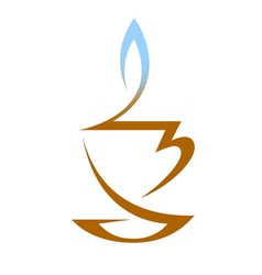 Cup of hot tea with vapor vector