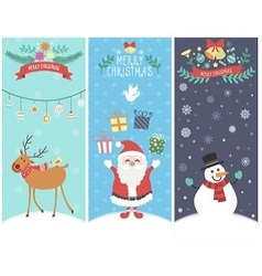 The cute christmas graphic cartoon design vector image vector image