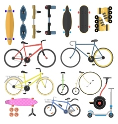 Active city transport vector image