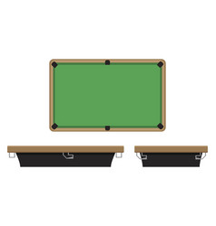 billiard table on side and on top vector image vector image