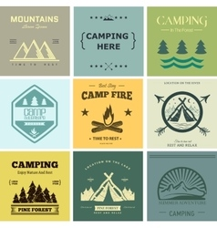 Camp label vector