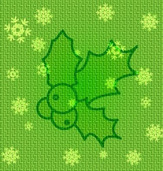 Christmas Holly vector image vector image