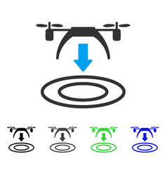 copter arrival flat icon vector image