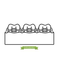Dental orthodontics treatment vector