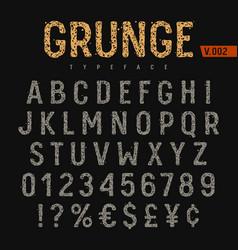 grunge font 004 vector image vector image