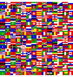seamless world flags vector image vector image