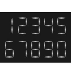 Silver number set vector