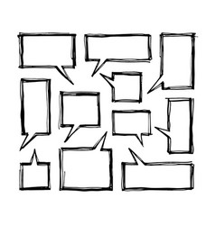 square speech bubbles vector image vector image