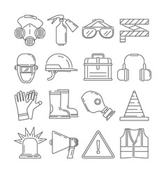 symbols of safety work protection for health vector image vector image