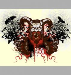 t-shirt design with monster vector image vector image