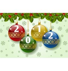 2012 balls vector image vector image