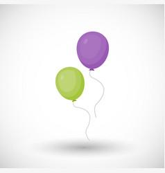 air balloon flat icon vector image