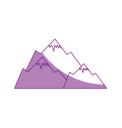 cute snowy mountains vector image