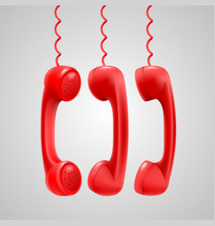 hanging red handsets vector image