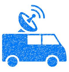 Radio control car grunge icon vector