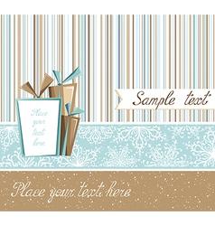 Season greeting card in retro style vector image vector image