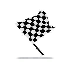 Checkered flag Cartoon vector image