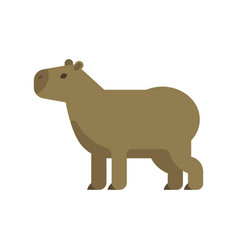 flat style of capybara vector image vector image