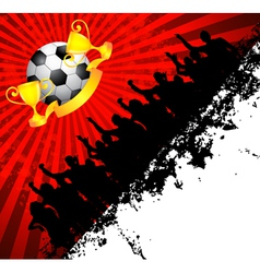 football and people vector image