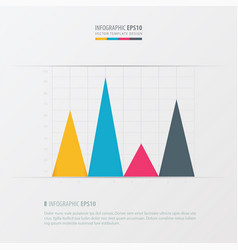 graph and infographic design yellow blue pink vector image