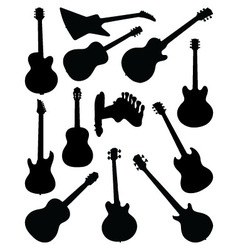 guitars 2 vector image