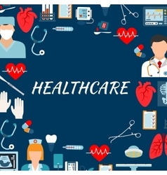 Medical services and hospital flat background vector image vector image