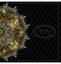 Ornamental round mandala Geometric circle element vector image vector image