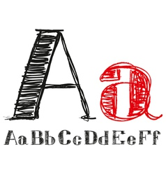 Sketch Alphabet New 01 vector image vector image
