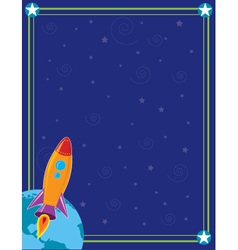 space and rocket vector image vector image