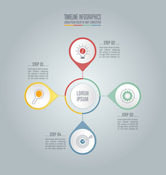 timeline business concept with 4 options vector image vector image