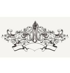 Vintage High Ornate Banner Text vector image vector image