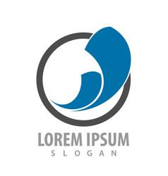 abstract circle logo concept design symbol vector image