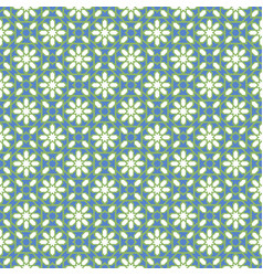 arabic seamless blue and green pattern ramadan vector image