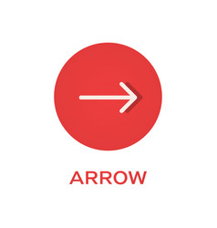 arrow right round flat icon pointer symbol vector image