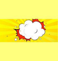 Background in comics book style speech bubble vector