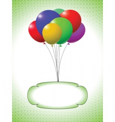 balloons and bubble vector image