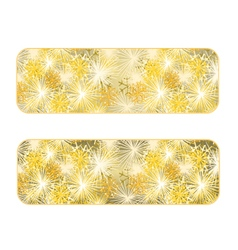 Banner New Year fireworks gold background vector image