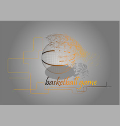 basketball game advertisement vector image