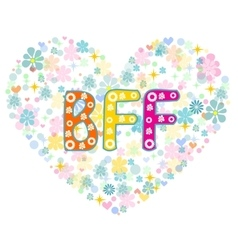 BFF Best Friends Forever Greeting card vector image