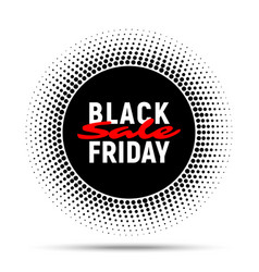 black friday sale circle banner background vector image