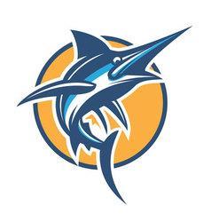 blue marlin vector image