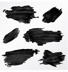 Brush strokes set hand drawn scribble abstract vector