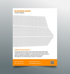 Business flyer template - stylish orange design vector image
