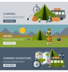 Camping Banner Set vector
