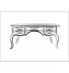 Classic table furniture with luxury ornaments vector